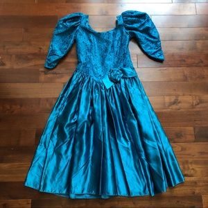 AWESOME 80's Prom Party Dress Vintage Gown